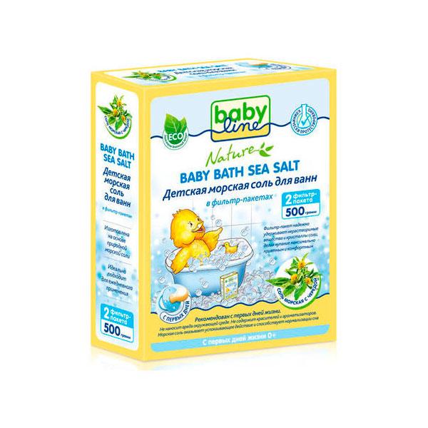 Соль для ванн Babyline Nature детская c чередой 500гр<br>