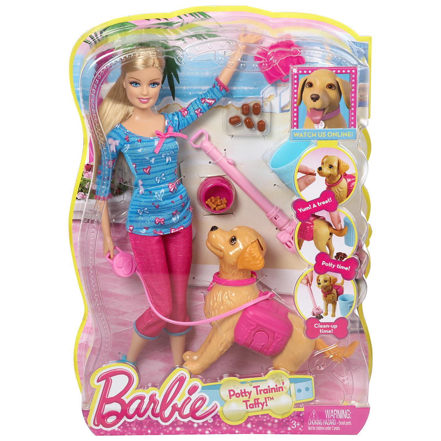 Кукла Barbie Барби выгуливает собачку<br>