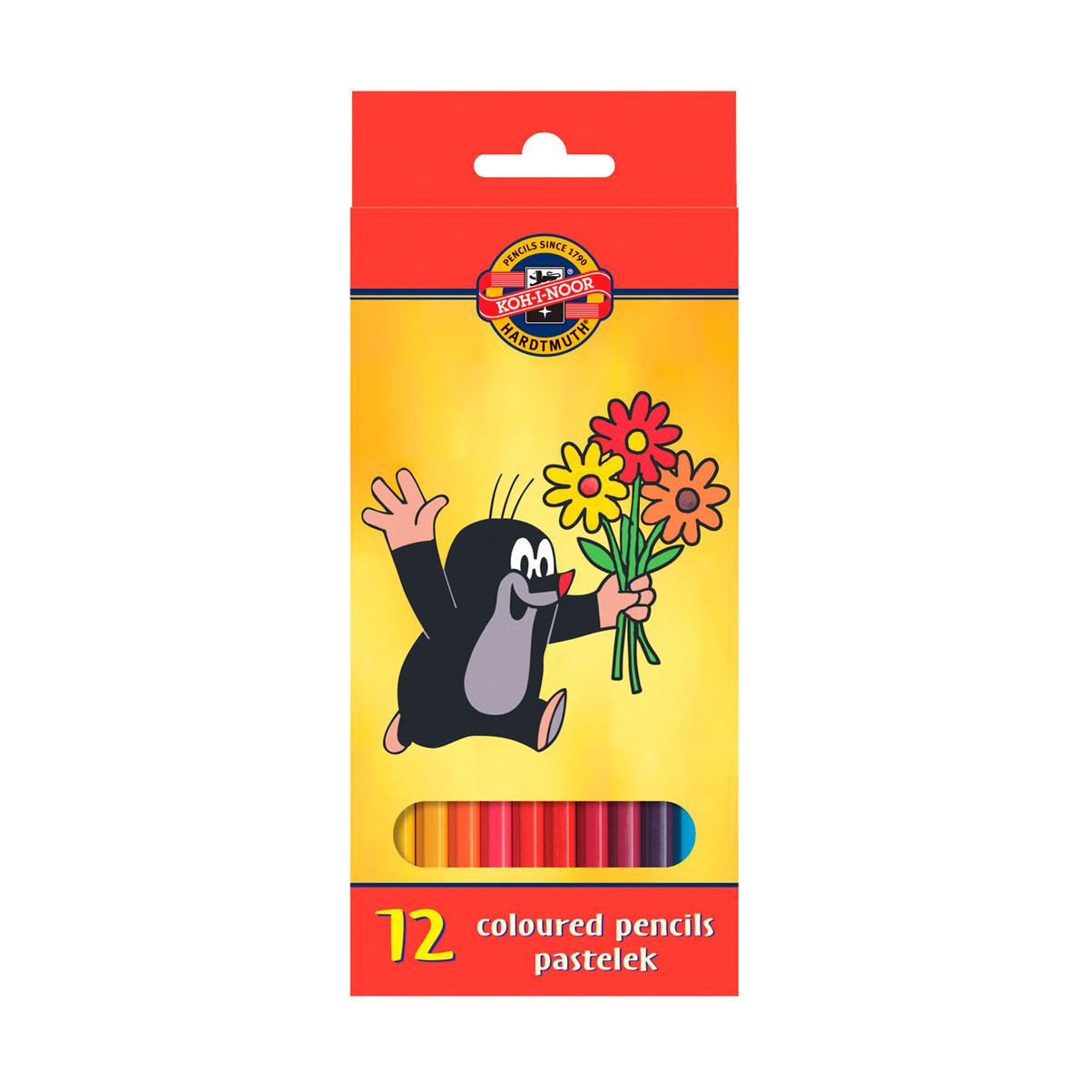 Набор карандашей цветных KOH-I-NOOR КРОТ 12 цветов<br>