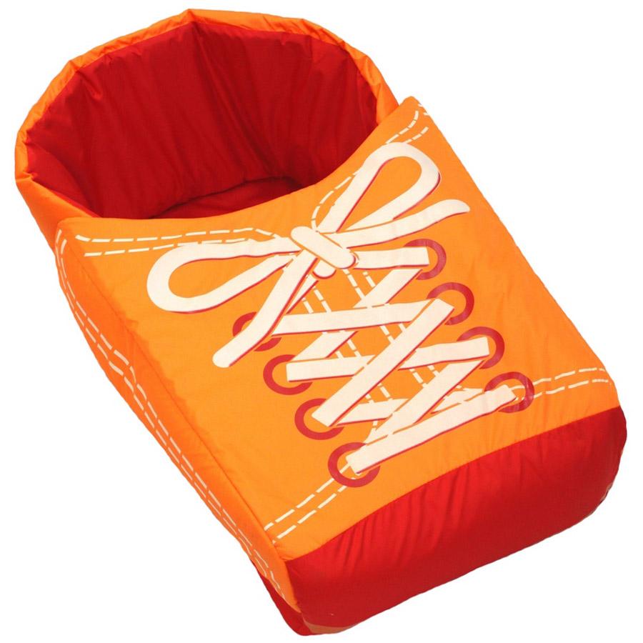 Матрасик с попоной для санок RT Кеды Красный с оранжевым<br>