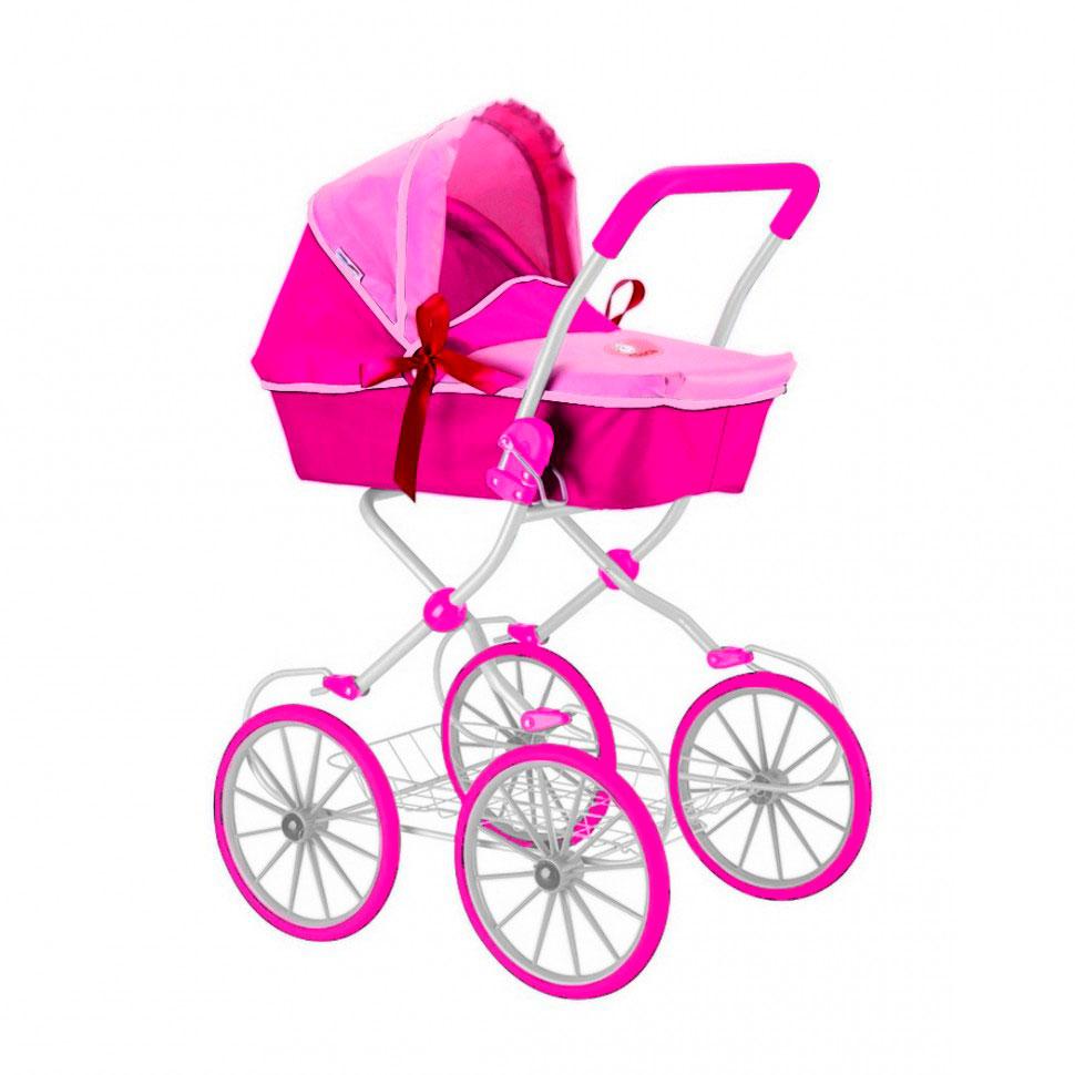 Кукольная коляска RT 603 Фуксия и розовый<br>