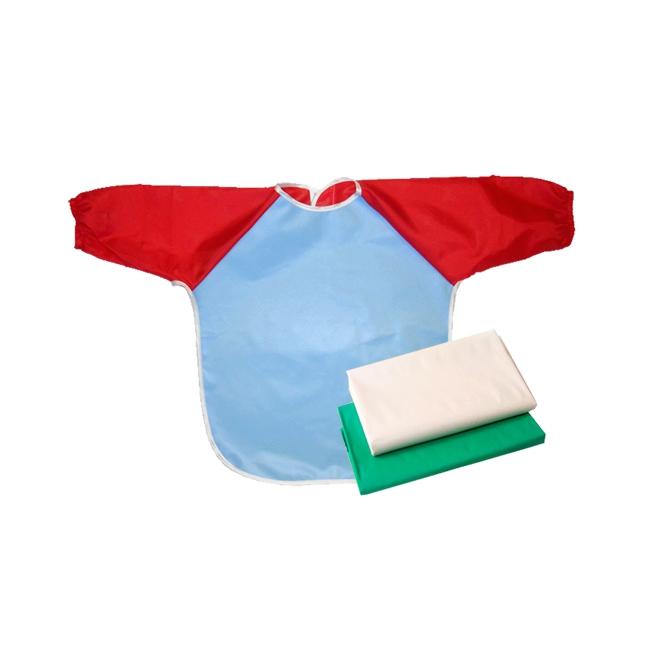 Набор для труда Витоша (клеенка для труда+фартук+клеенка в подарок) Голубой фартук<br>