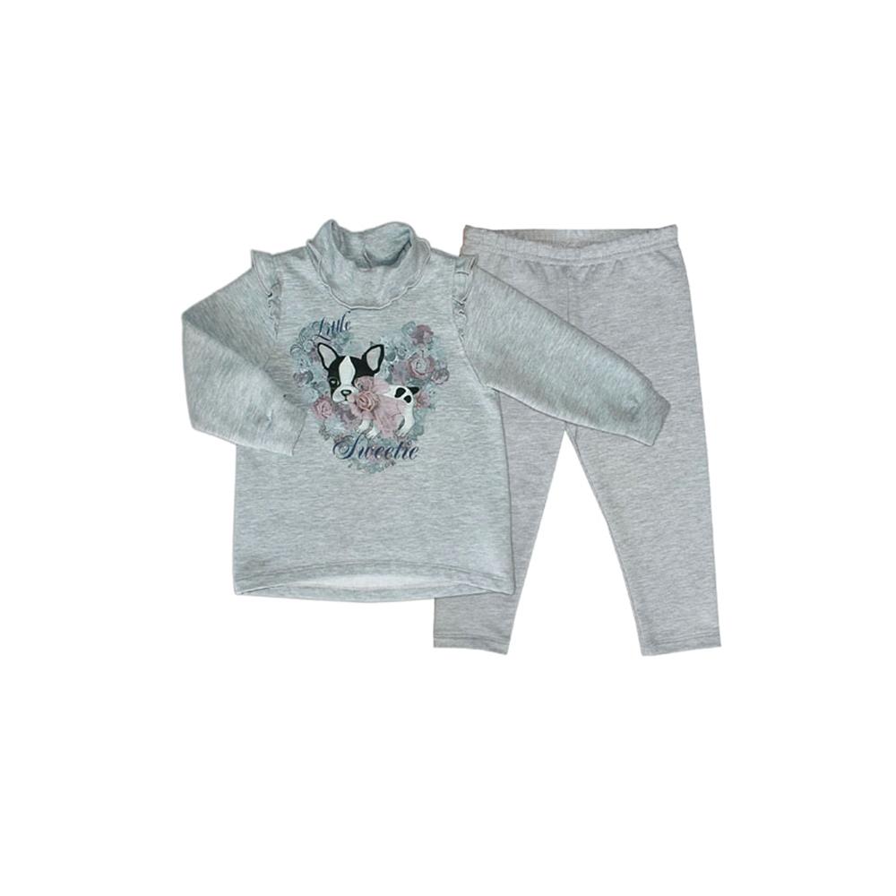 Комплект Бимоша для девочки: джемпер+брюки, цвет серый (132153) 12-18 мес.