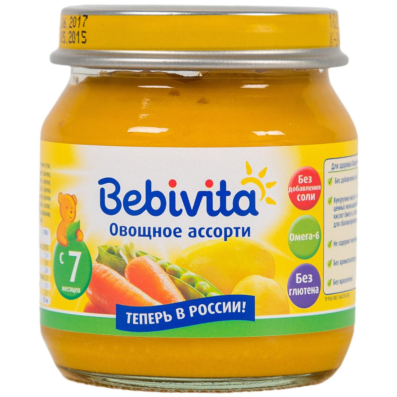 Пюре Bebivita овощное 100 гр Овощное ассорти (с 7 мес)<br>