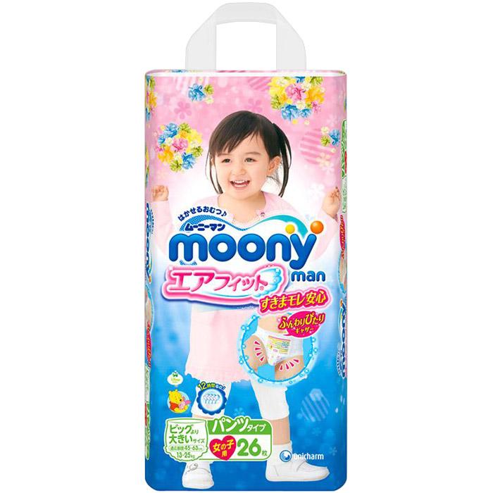 Трусики Moony для девочек 13-25 кг (26 шт) Размер SPB<br>