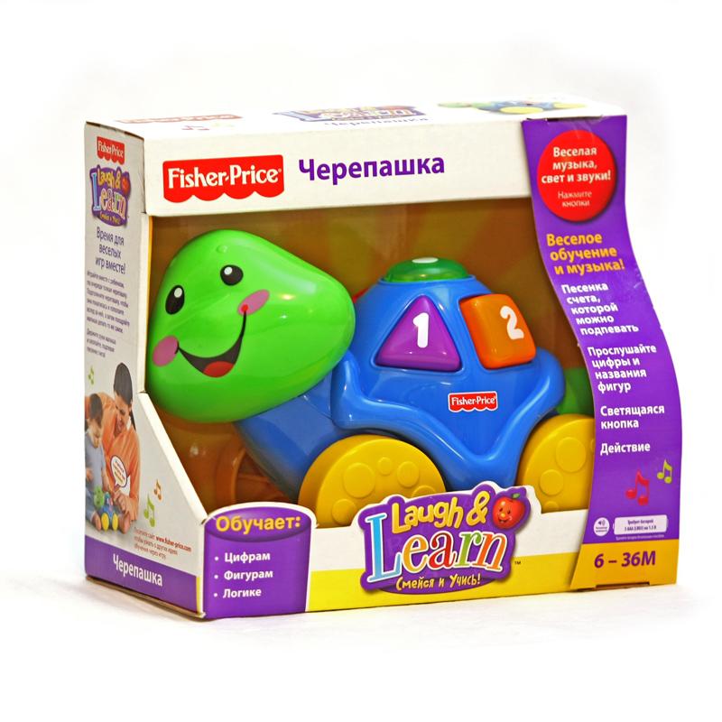 Развивающая игрушка Fisher Price Смейся и Учись Черепашка с кубиками с 6 мес.
