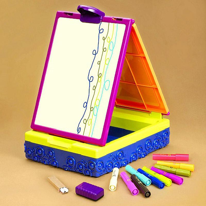 Складной мольберт для рисования с фломастерами