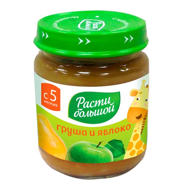 Пюре Расти Большой фруктовое 100 гр Груша и яблоко (с 6 мес)<br>