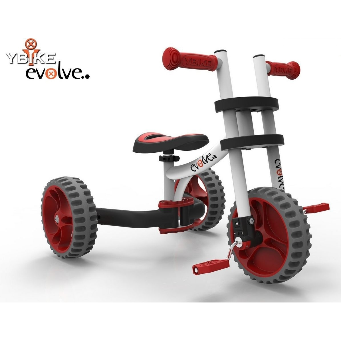 Велобалансир-велосипед Y-Bike Evolve Trike White Red<br>
