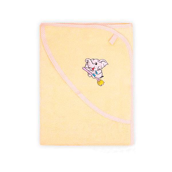 Полотенце-уголок Осьминожка с рукавичкой махровое Желтое<br>