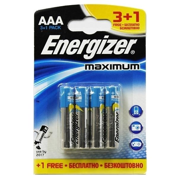 Батарейка Energizer Алкалиновая Maximum мизинец 3+1<br>