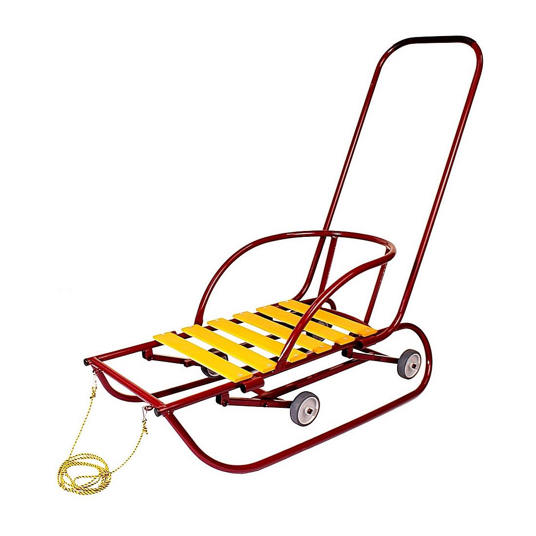 Санки детские Санимобиль Базовый с педальным механизмом Бордовый
