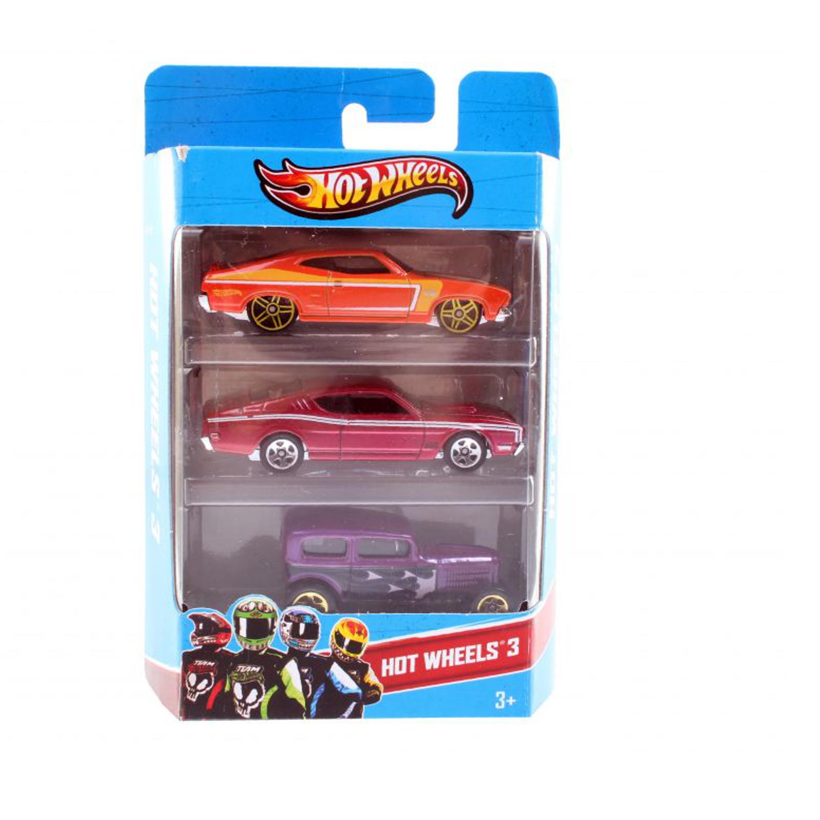 Набор машинок Hot Wheels Базовые машинки Ретро Огонь, Мускул красный, Мускул оранжевый