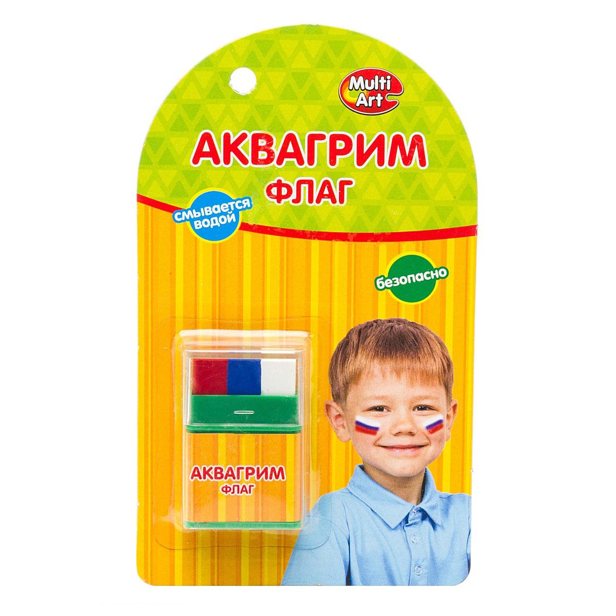 Аквагрим Multiart Мелки 3 цвета Флаг<br>