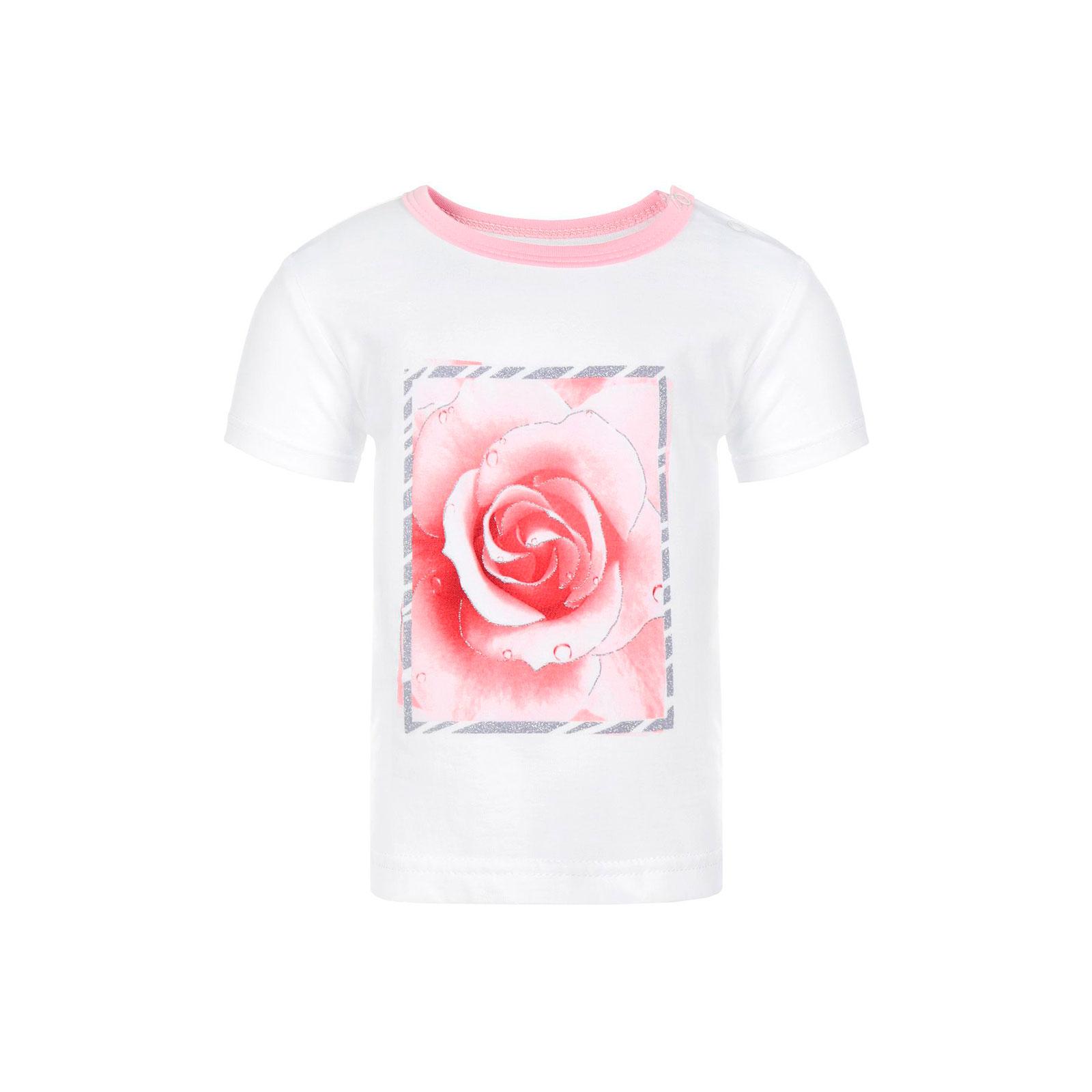 Футболка Котмаркот Розы рост 98 белый<br>