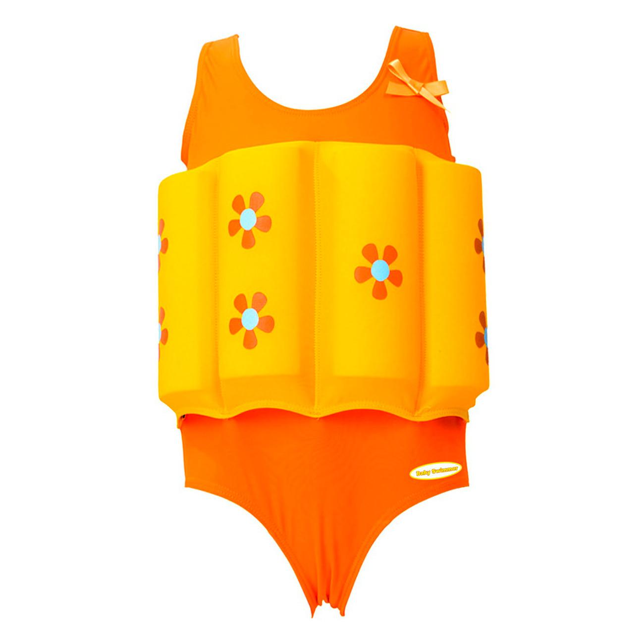 Купальный костюм для девочки Baby Swimmer Цветочек желтый рост 98<br>