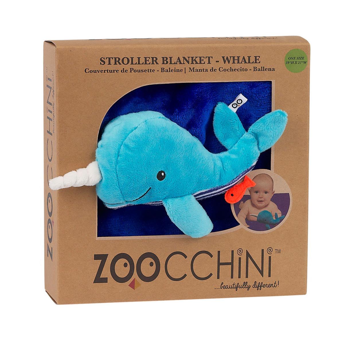 Одеяло Zoocchini с игрушкой Кит<br>
