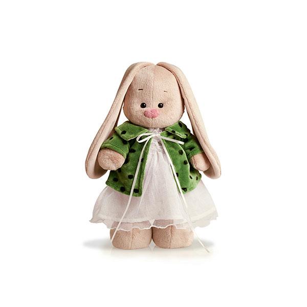 Мягкая игрушка Зайка Ми В зеленом пальто и белом платье<br>