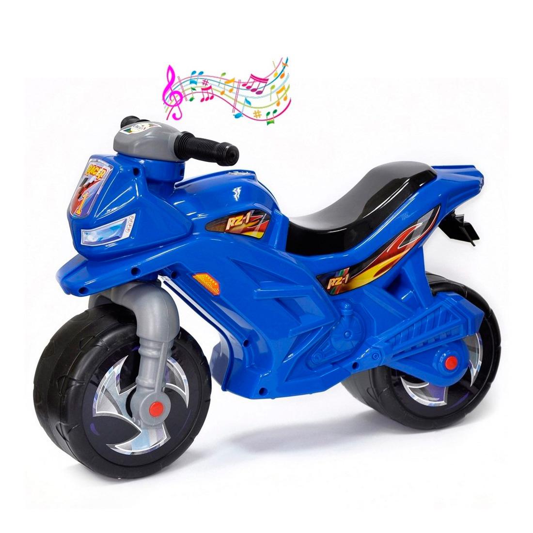 Каталка-беговел RT Racer RZ 1 ОР501в3 с музыкой Синий<br>