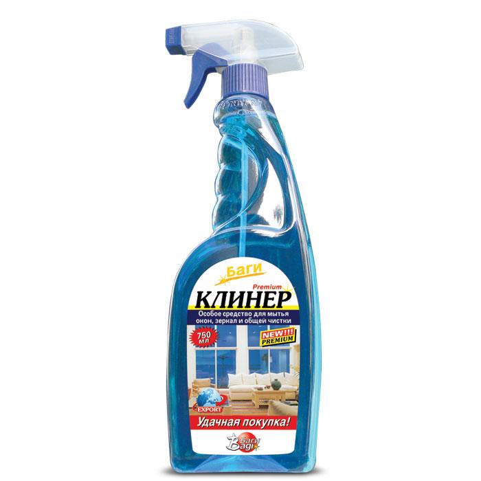 Чистящее средство Bagi 750 мл Клинер для мытья окон (спрей)<br>