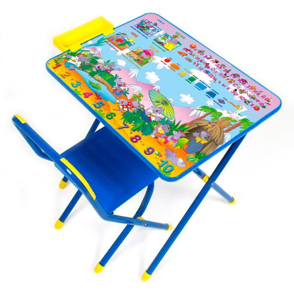 Набор мебели стол и стул Дэми №3 Синий Лимпопо<br>
