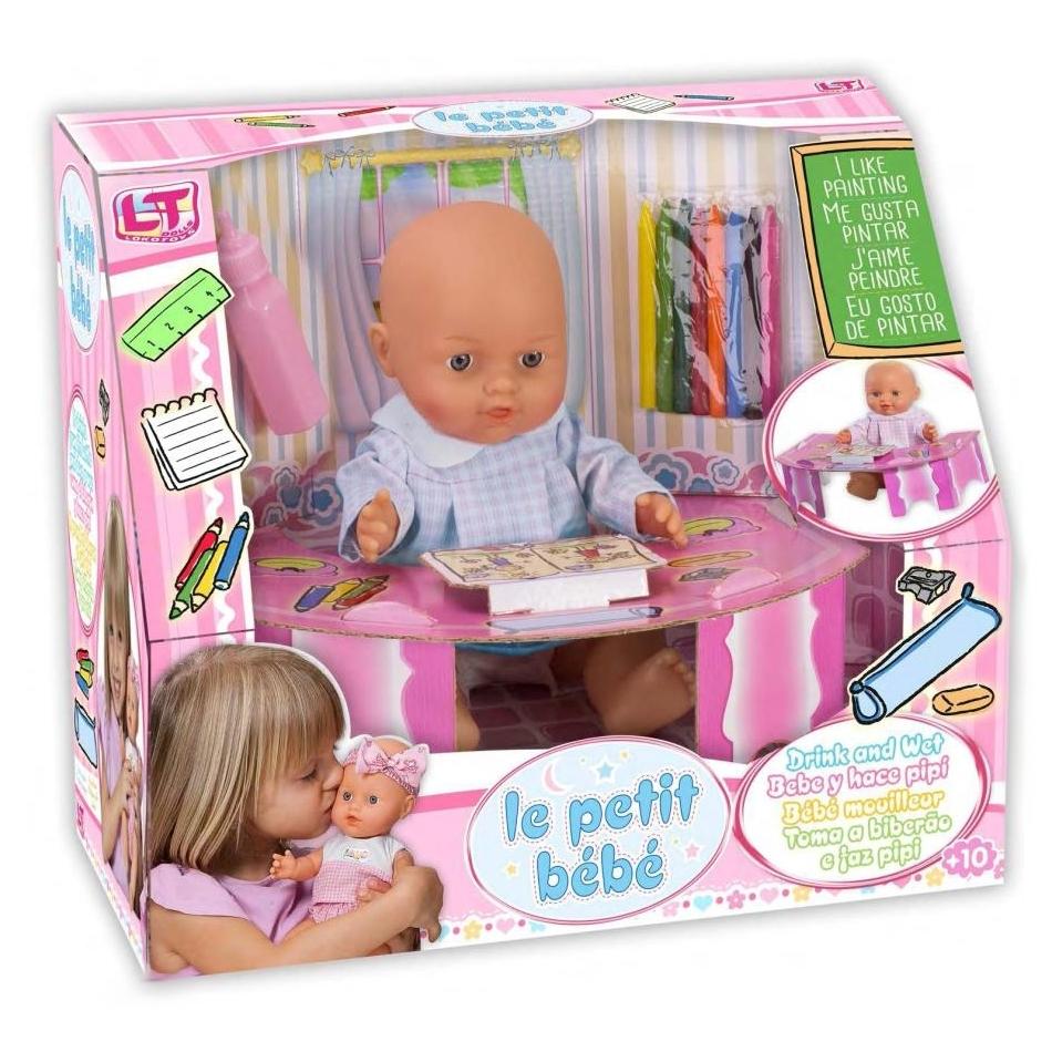Кукла LOKO TOYS Le Petit Bebe подарочный набор со столиком и аксессуарами школы<br>
