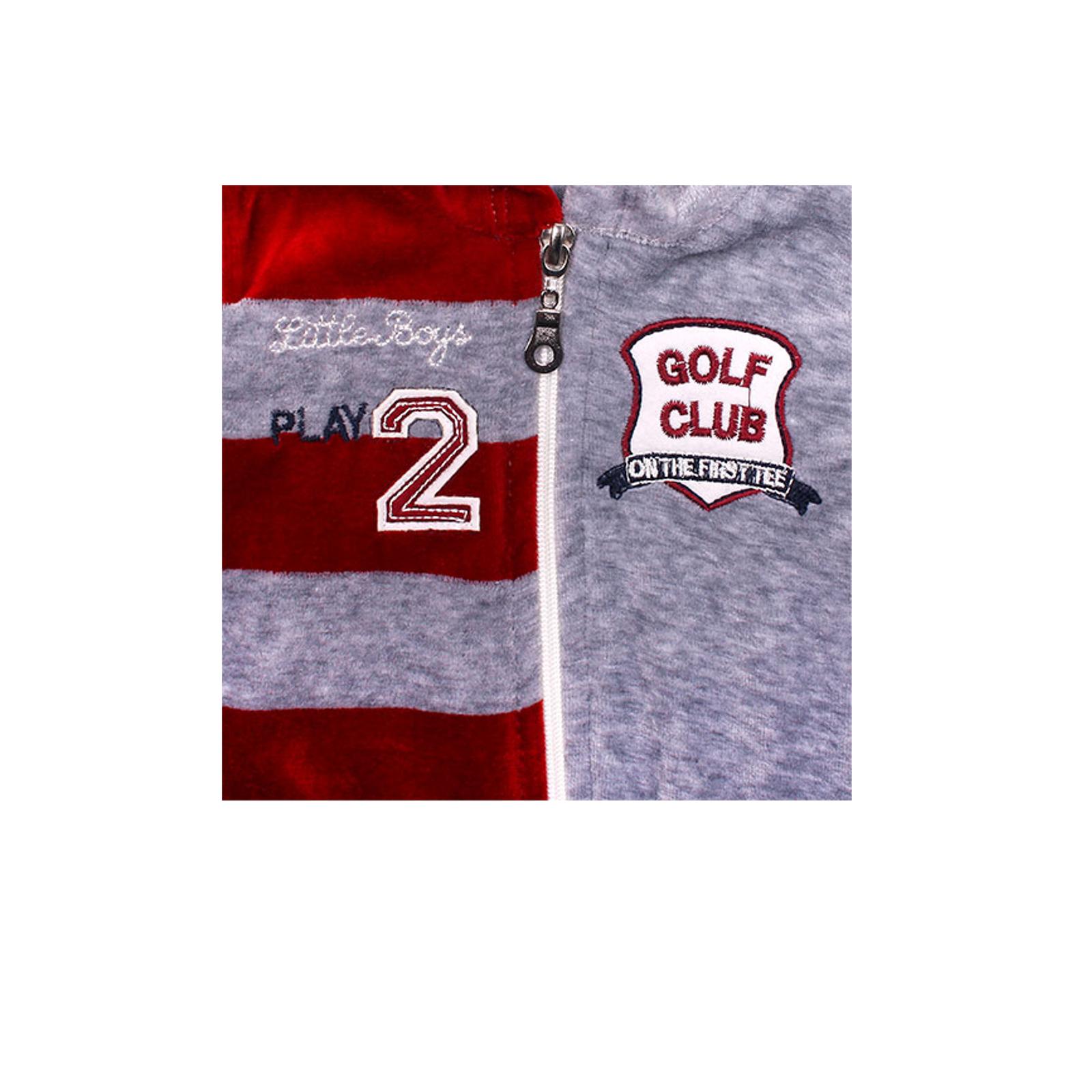 Комплект одежды Estella для мальчика, брюки, толстовка, жилет, цвет - Бордо Размер 74