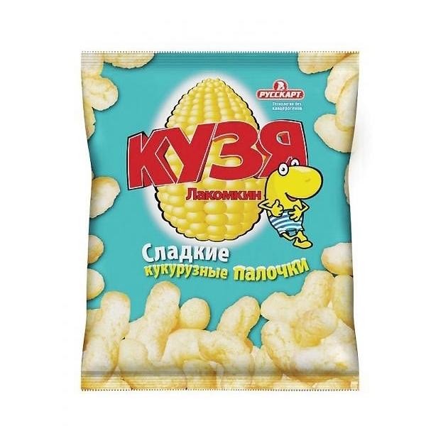 Палочки Кузя Лакомкин кукурузные С сахарной пудрой (38 гр)<br>