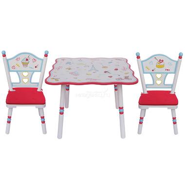 Комплект из стола и двух стульев Major-Kids Paris