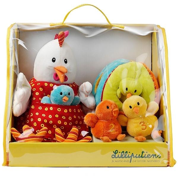 Кукольный театр Lilliputiens Курочка Офелия и ее цыплятки<br>