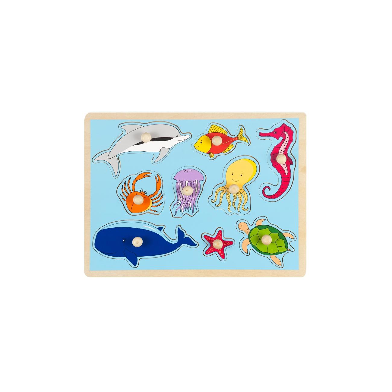 Рамка-вкладыш Маленький гений Морские обитатели<br>