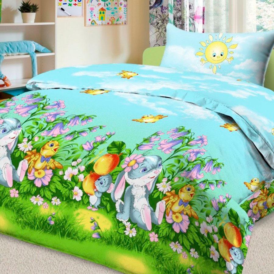 Комплект постельного белья детский Letto в кроватку BG-23<br>