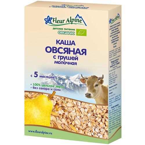 Каша Fleur Alpine Органик 200 гр Овсяная с грушей (с 5 мес) молочная<br>