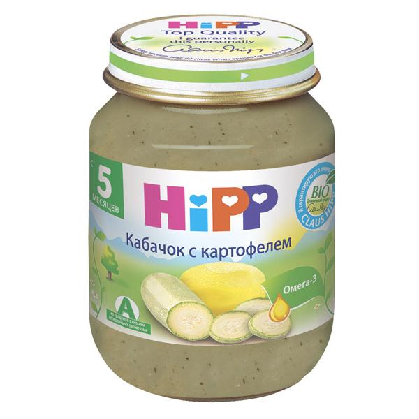 Пюре Hipp овощное 125 гр Кабачок с картофелем (с 5 мес)