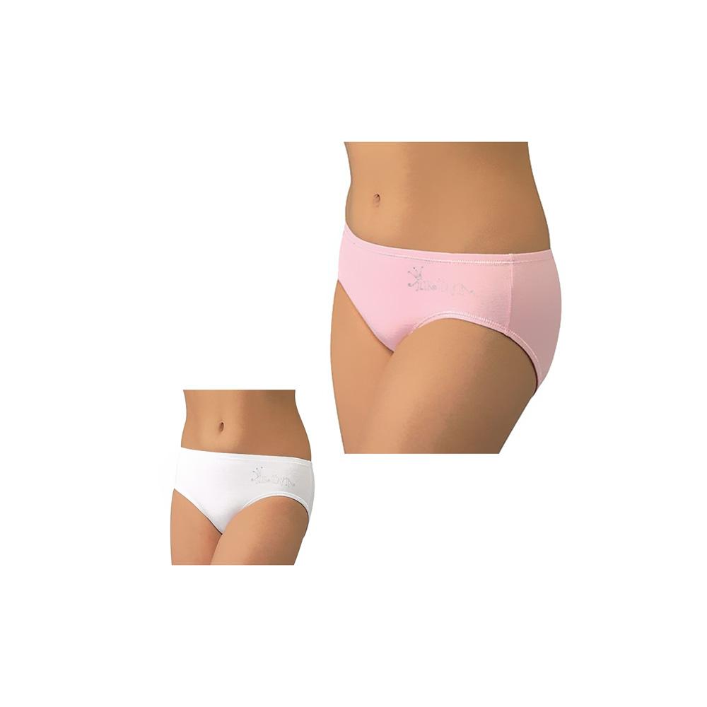 Трусы-слип для девочек (2 шт.) Arina Арина (принт) размер 116-122 см