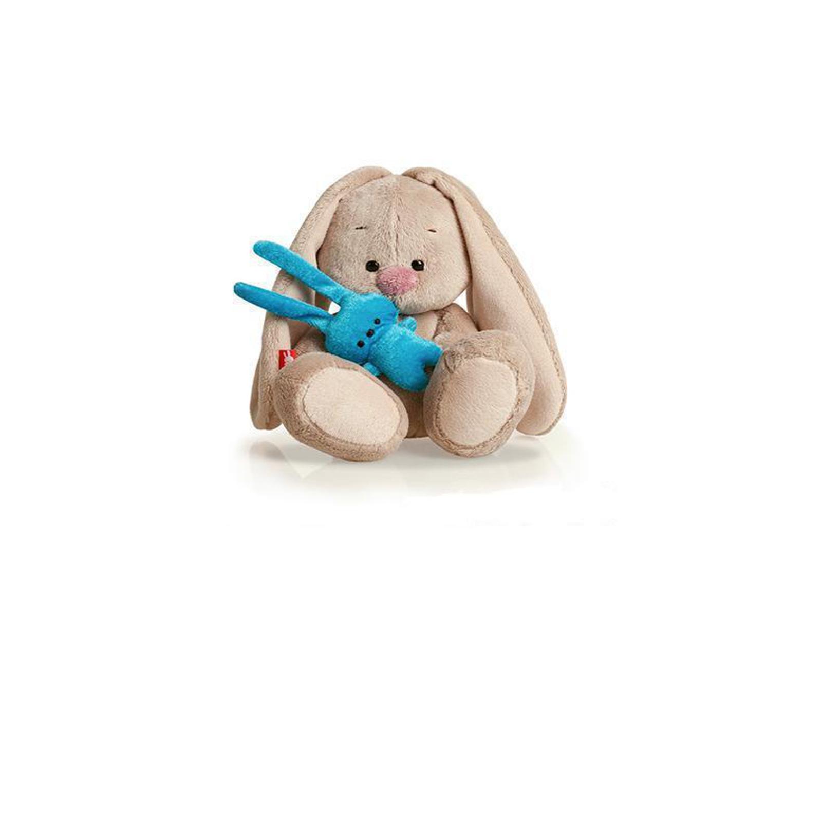 Мягкая игрушка Зайка Ми с бирюзовым зайкой 15 см