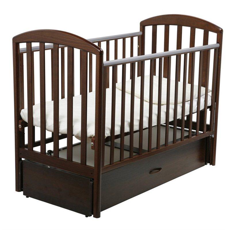 Кроватка Papaloni Джованни 125х65 маятник продольный Шоколадный орех<br>