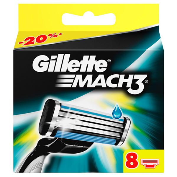 Cменные кассеты для бритья Gillette MACH3 8 шт<br>