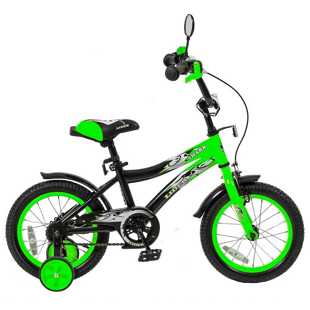 Велосипед двухколесный Velolider 14 Lider Shark 14A-1487 Зеленый/Черный<br>