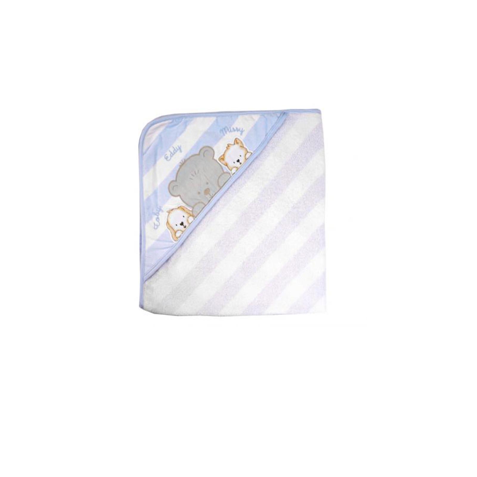 Полотенце-уголок махровый Непоседа Friends 90*90 см Голубое
