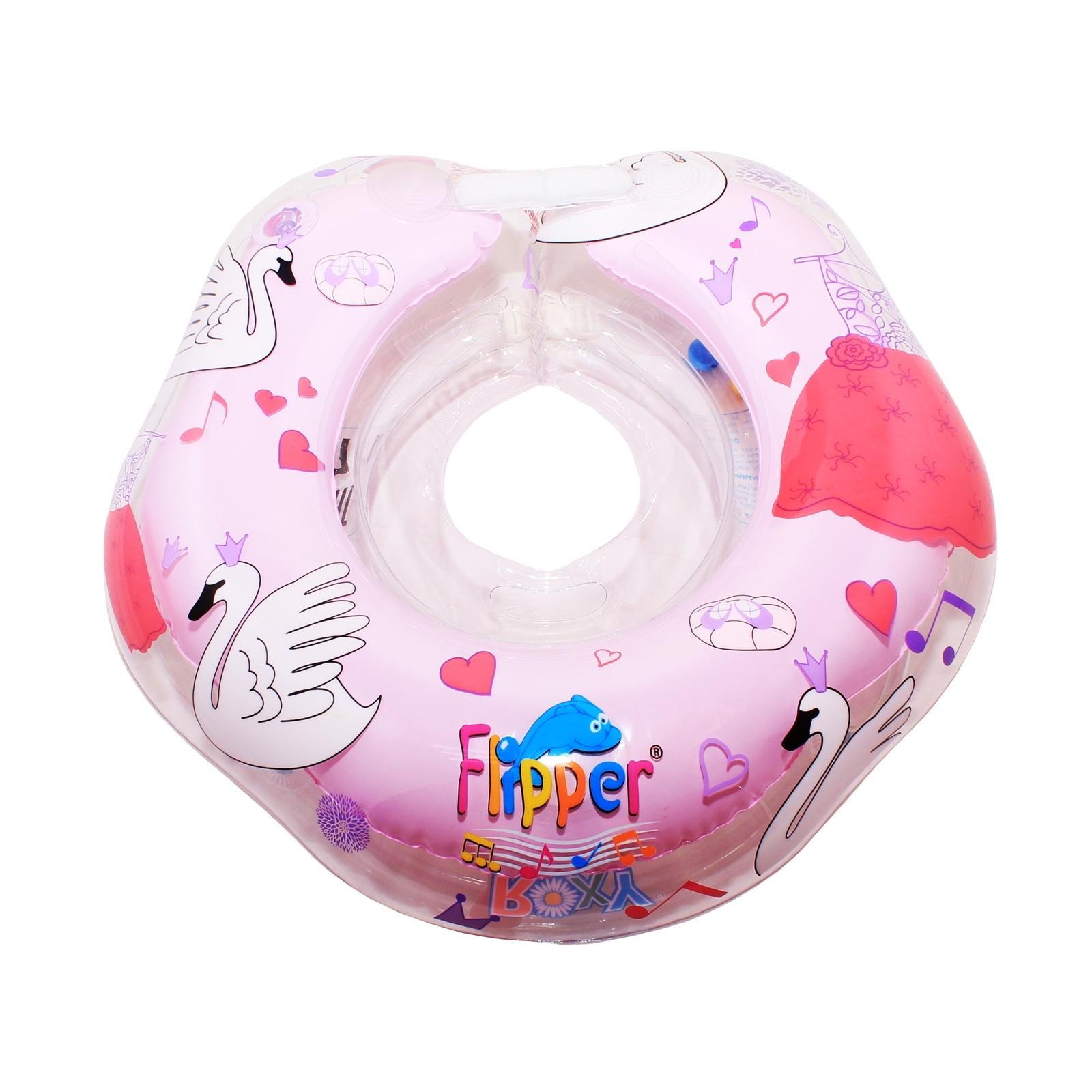 Круг для купания  Roxy-kids Лебединое озеро розовый (музыкальный) с 0 мес<br>