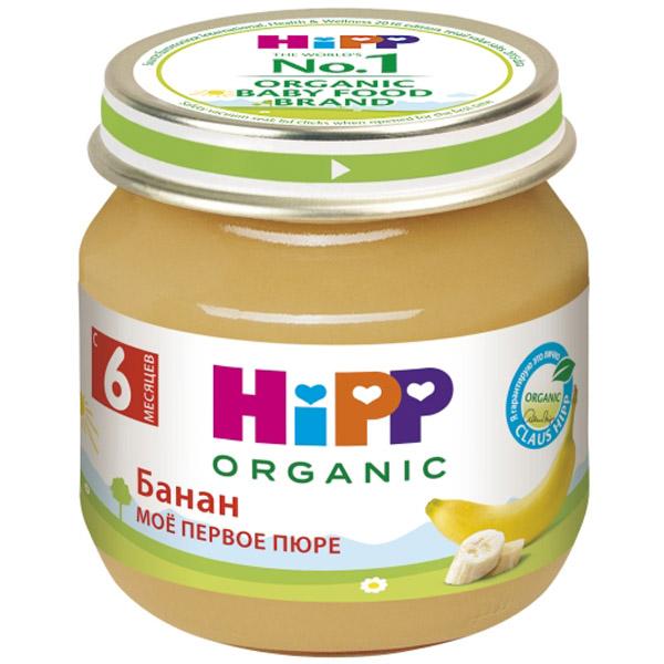 Пюре Hipp фруктовое 80 гр Банан (с 6 мес)<br>