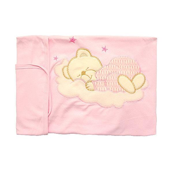 Плед трикотажый Little People с аппликацией 85х85 см Розовый