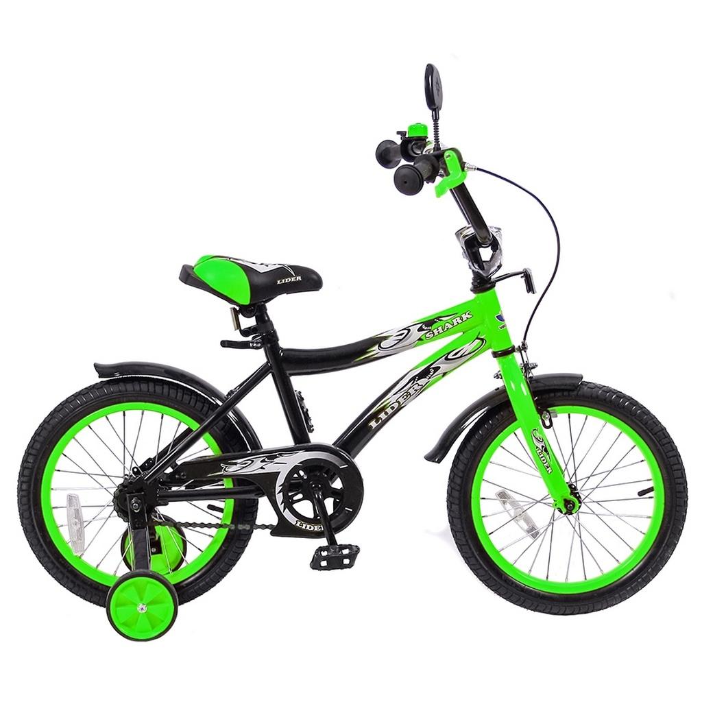 Велосипед двухколесный Velolider 16 Lider Shark 16A-1687 Зеленый/Черный<br>