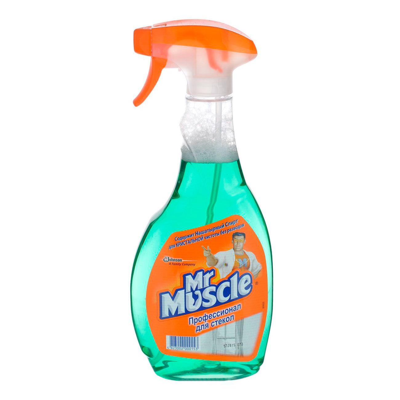 Средство Мистер Мускул триггер 500 мл для стекол с нашатырным спиртом (МИСТЕР МУСКУЛ)