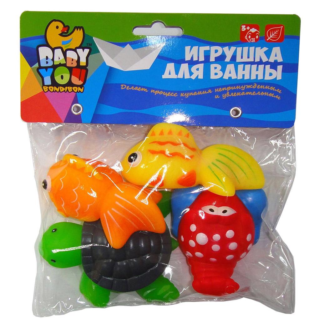 Игрушки для ванной Bondibon Рыбки, Рак, Черепаха<br>