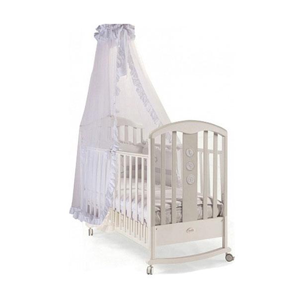 Кроватка Feretti Elegance Dondolo 125x65 качалка Grigio Chiacco-Ice Gray<br>