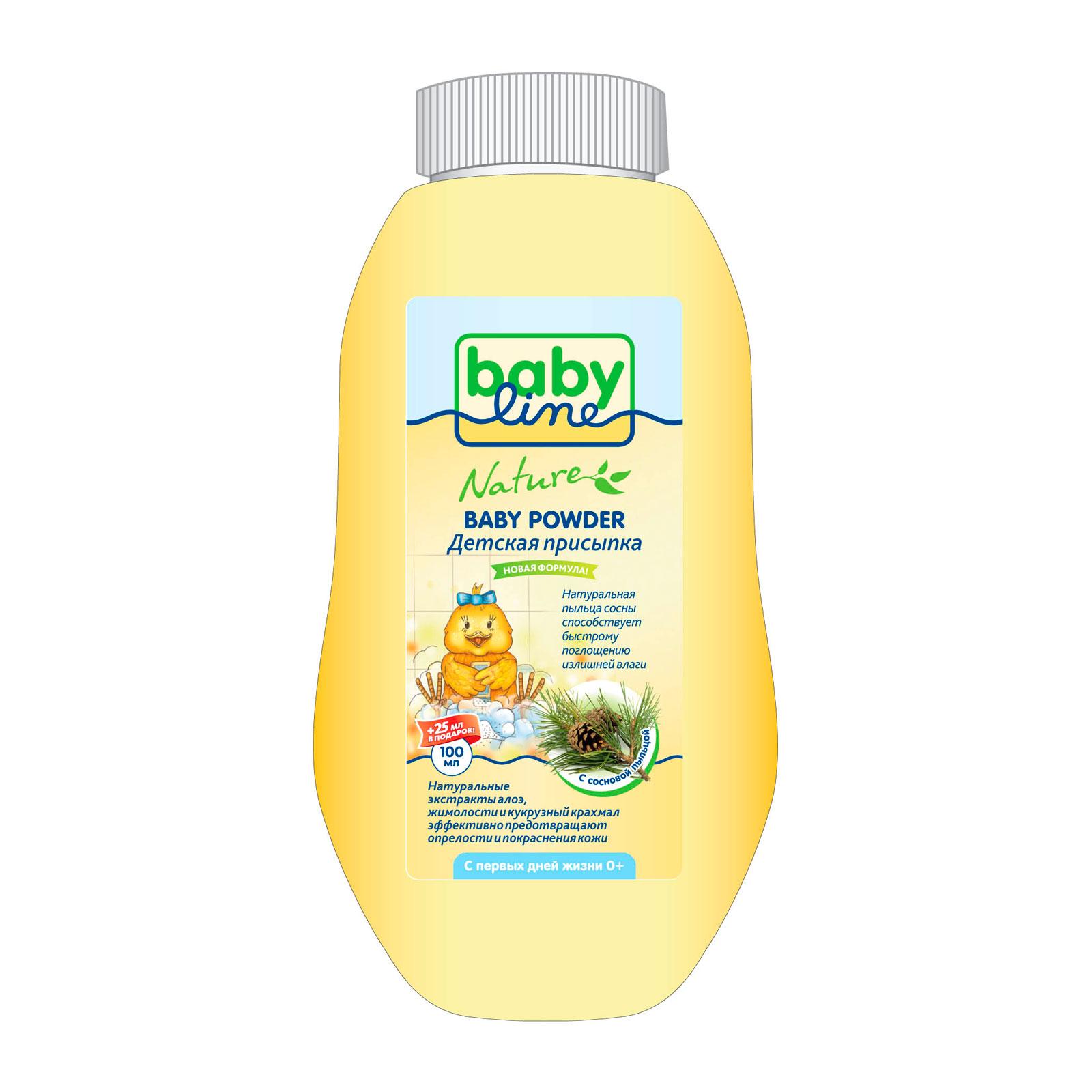 Присыпка Babyline Nature с сосновой пыльцой 100 гр + 25 % в подарок<br>