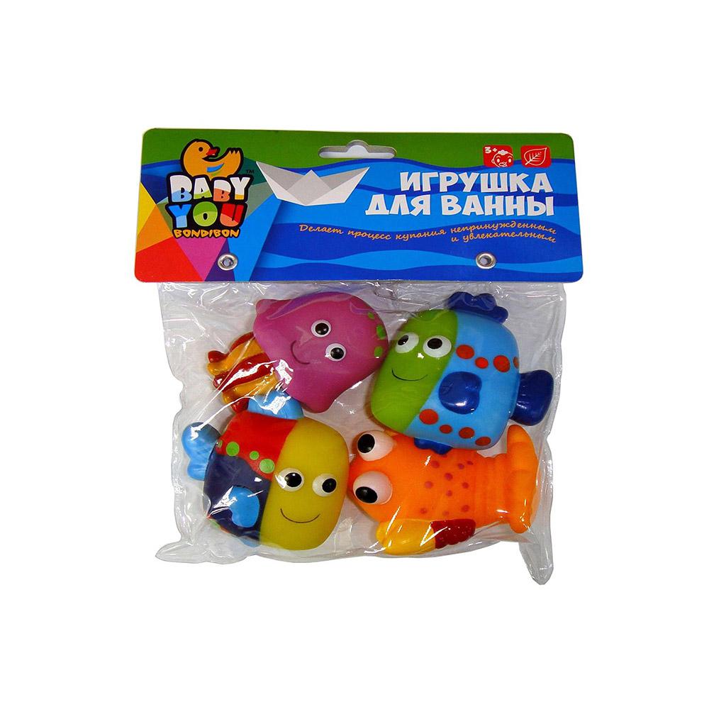 Игрушки для ванной Bondibon Рыбки, Рак, Медуза