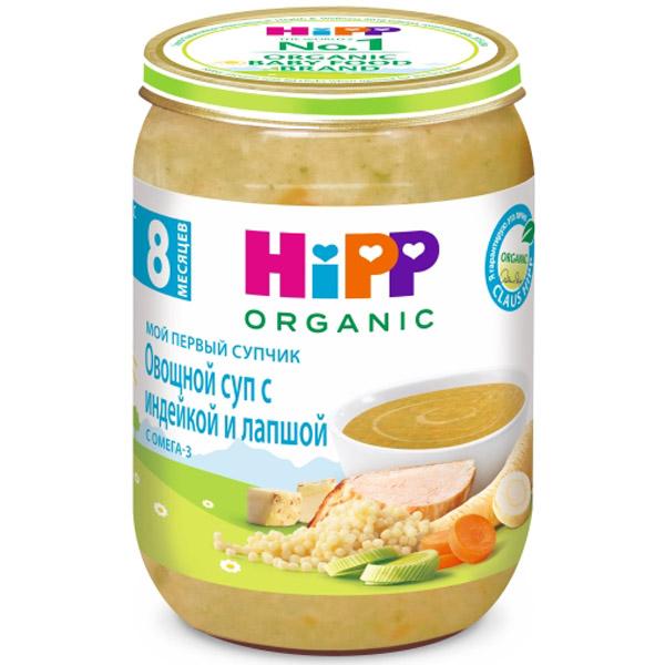 Пюре Hipp Мой первый супчик 190 гр Овощной суп с индейкой и лапшой (с 8 мес)<br>